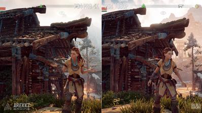 Horizon Zero Dawn  PS4 Pro vs PS4 Gameplay Comparison - YouTube