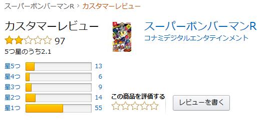 jp:カスタマーレビュー- スーパーボンバーマンR