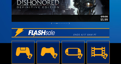 Flash Sale!  Official PlayStation®Store US