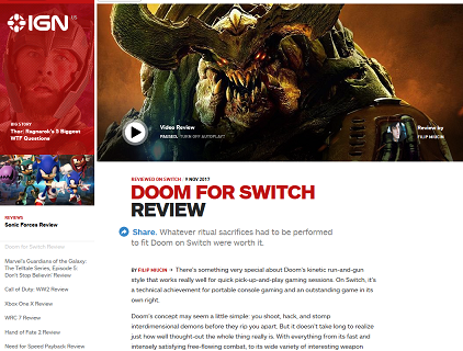 Doom for Switch Review - IGN