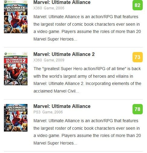 Marvel Ultimate Alliance -