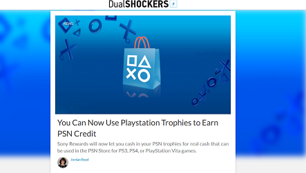 You Can Now Use Playstation Trophies to Earn PSN Credit