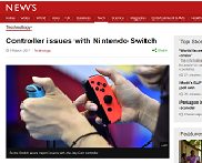 Controller issues with Nintendo Switch - BBC News