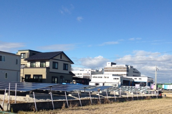 太陽光発電所 施工途中