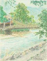 上高地の河童橋 〔August 3, 2002〕
