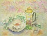 ティーサーヴァーと妙な形のカップ&ソーサー 〔February 3, 2009〕