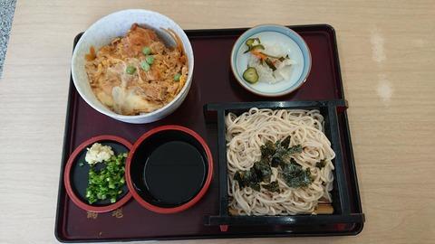 鶴亀カツ丼そばセット