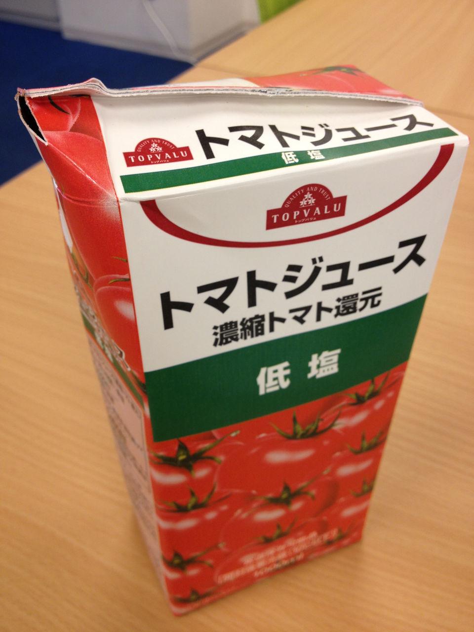 紙パックのトマトジュース