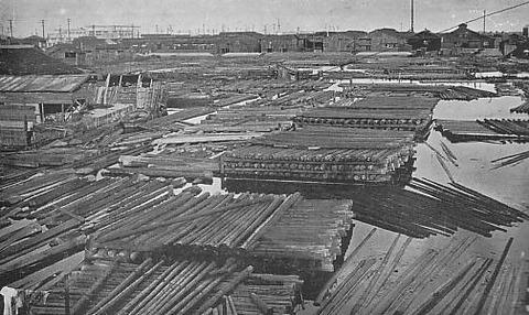 Kiba_Lumberyard_in_1933