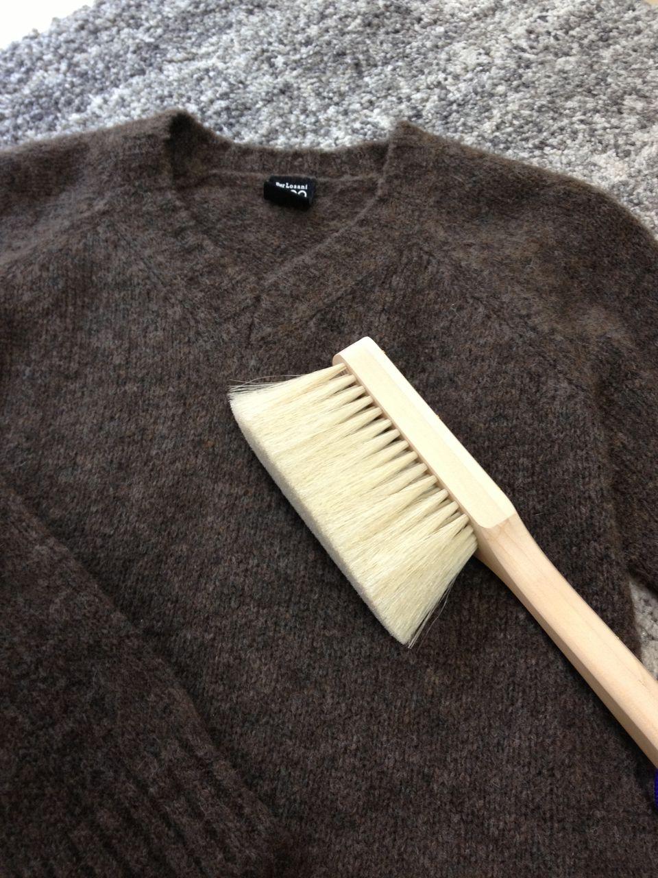Xpassion 洋服ブラシ 馬毛 静電除去 天然木 靴ブラシ スーツブラシ 清掃用