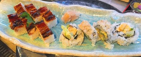 穴子押し寿司・海鮮巻き