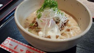 0713うどん担々麺(豆乳仕立て)