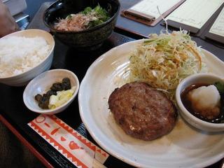 L-20 ハンバーグ定食(おろしポンズ)