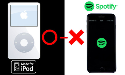 iPod win_Spotify lose