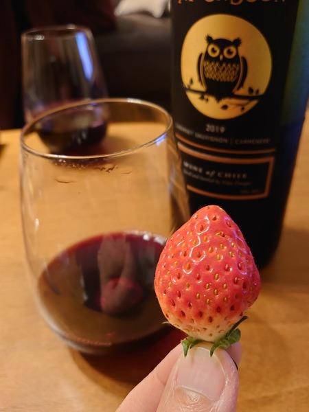 苺とワイン。