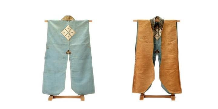 隅立四つ目紋絹陣羽織