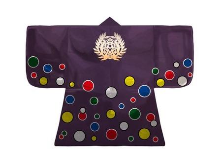 紫羅背板五色水玉文様陣羽織
