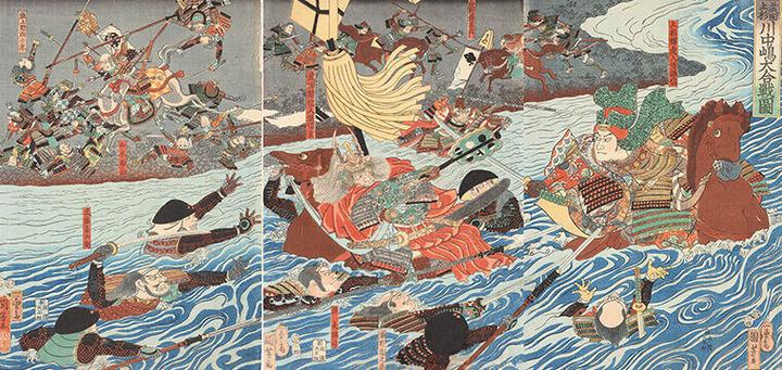 61_歌川国芳 作「武田上杉川中島大合戦」