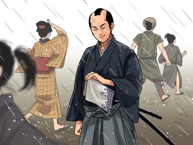 雨が降っても走らず、日本刀を濡らさない