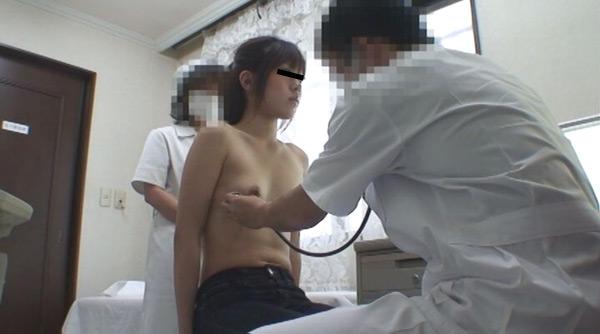 なかなかの美乳・クラミジア治療中の服部さん 触診シーン 実録・産婦人科盗撮 File13