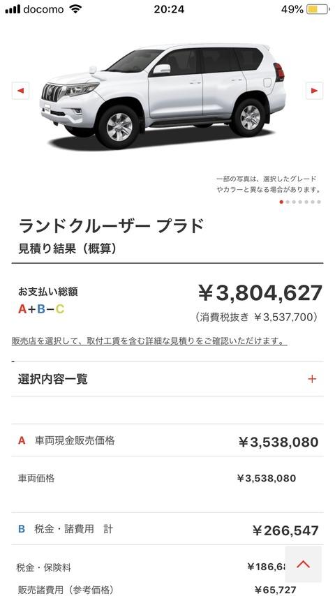 【画像】年収274万工場勤務俺氏、ついにこの車を買うことを決意