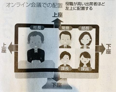 【画像あり】マナー業界「テレワーク普及してオンライン会議も増えたな…せや!」