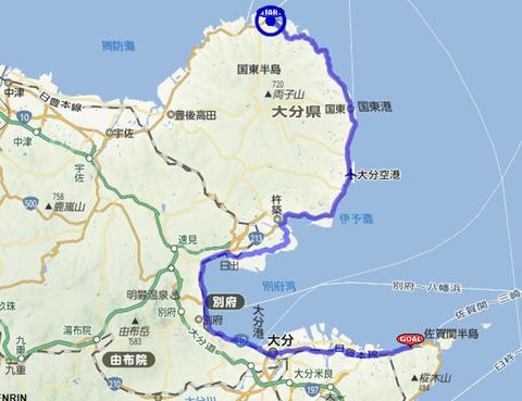 九州一周 2日目ルート