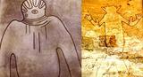 古代遺跡 宇宙人壁画ヘルメット