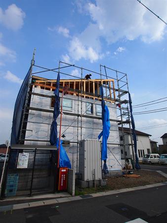 滋賀県栗東市蜂屋 建築中-4
