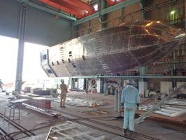 船体反転作業(1回目) (6)