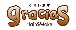 Hair&Make graciasロゴ
