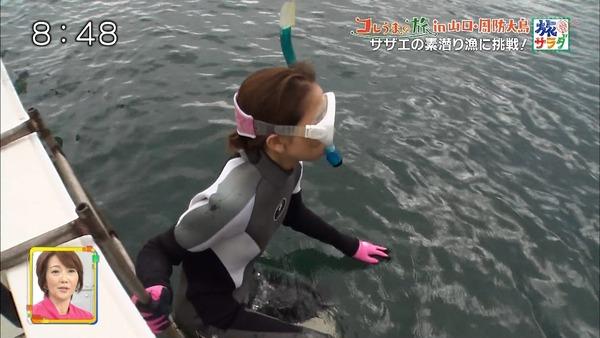 サザエの素潜り漁