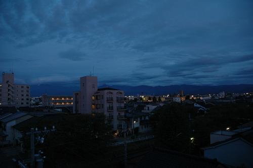 富山市 いたち川 立山連峰