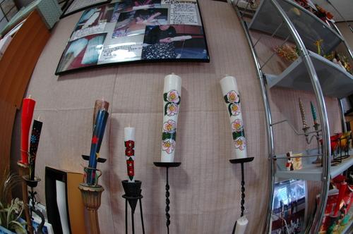手作りロウソク 手作り蝋燭 蝋燭職人 松住商店 076-421-4427