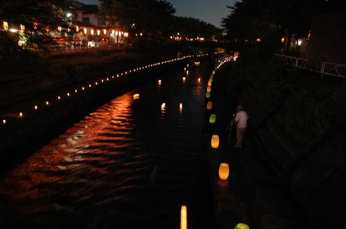 富山市 燈籠流し いたち川 イベント