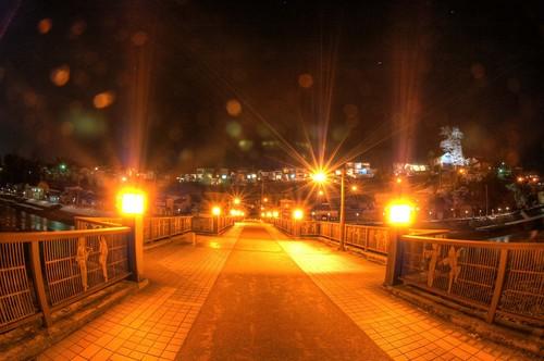 八尾 ライトアップ 禅寺橋 夜景 撮影スポット