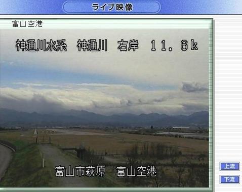 防災ネット富山 富山空港(上流)