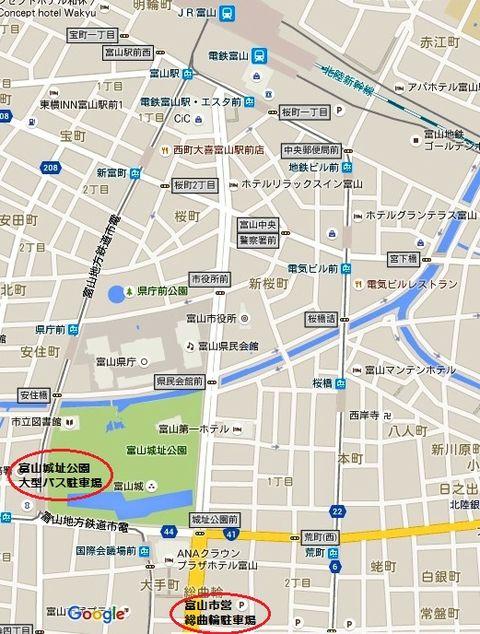 富山駅南周辺