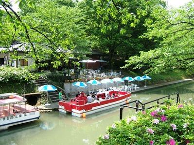 新緑の松川遊覧船のりば