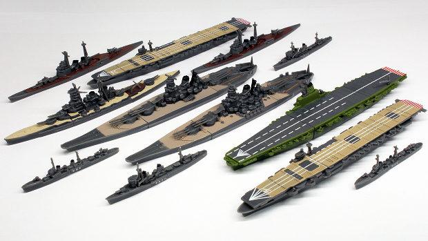 洋上模型 連合艦隊コレクション 大和型艦艇編 全11種-1