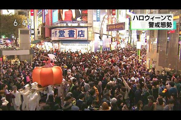 【画像】渋谷ハロウィンでカボチャの神輿