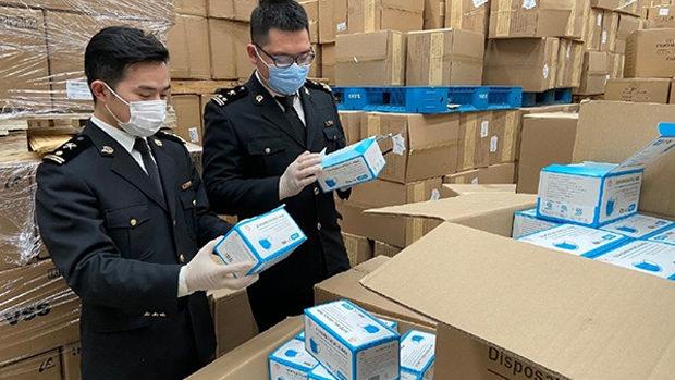 【中国】国家市場監督管理総局「この2カ月で押収した不合格品マスク8904万枚!」