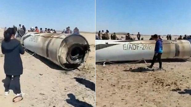 動画】中国、ミサイルの残骸を内...