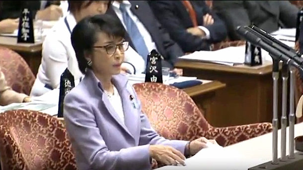 【動画】国会、三原じゅん子、国民に向け「蓮舫:二重国籍 ...