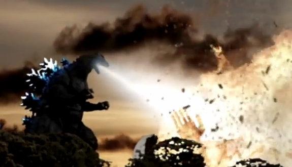 「ゴジラ対メカゴジラ対太陽の塔のロボ」コマ撮り特撮2