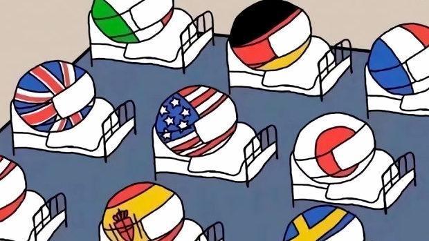 【悲報】話題の「感染中国と支援日本」の風刺画、最新作登場!中国が勝利宣言