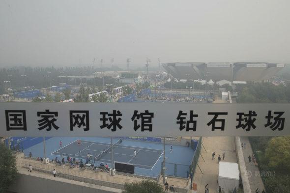 中国オープンテニス、観客はスモッグの中で観戦!6
