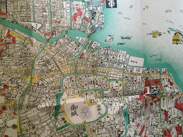 江戸時代 寛永4年(1627年)の古地図