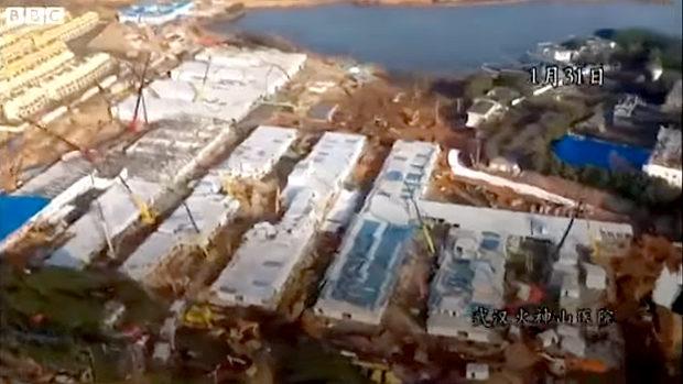 中国、武漢の10日間で作った病院、できるまでのタイムラプス映像がこちら