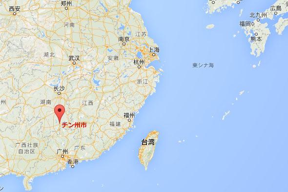 【中国】湖南省チン州市 地図